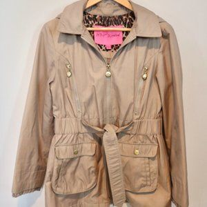Betsy Johnson Tan Trench & Rain Coat (Medium)